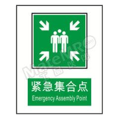 安赛瑞 GB消防安全标识(紧急集合点) 20093 材质:塑料板  张
