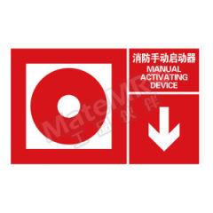 安赛瑞 左右款消防安全标识(消防手动启动器) 20106 材质:自发光不干胶  张