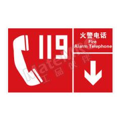 安赛瑞 左右款消防安全标识(火警电话) 20112 材质:自发光不干胶  张