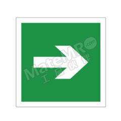 安赛瑞 自发光消防警示标签(→) 20244 材质:自发光不干胶  包
