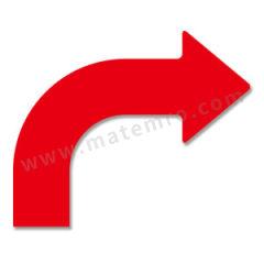安赛瑞 耐磨型向右拐箭头地贴(红色) 11946 材质:PET  包