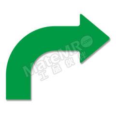 安赛瑞 耐磨型向右拐箭头地贴(绿色) 11952 材质:PET  包