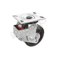 科顺 6系列6寸平顶定向高弹性橡胶重载减震轮 SB-6508-648 安装高度:212mm 脚轮材质:高弹性橡胶  个