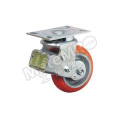 科顺 6系列6寸平顶万向聚氨酯铸铁欧式减震轮 SC-6509-948 安装高度:203mm 脚轮材质:聚氨酯铸铁  个