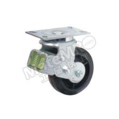 科顺 6系列6寸平顶万向高弹性橡胶欧式减震轮 SC-6509-648 安装高度:203mm 脚轮材质:高弹性橡胶  个