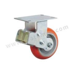 科顺 6系列8寸平顶定向聚氨酯铸铁欧式减震轮 SC-8508-948 脚轮材质:聚氨酯铸铁 安装高度:265mm  个