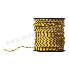 安赛瑞 黄黑警示绳 14106 材质:尼龙  卷