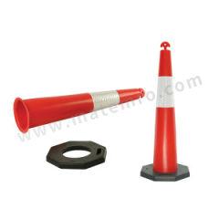 安赛瑞 反光警示隔离锥 14478 材质:橡胶底盘  个
