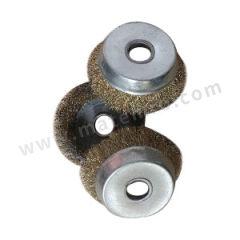 金利 碗型钢丝轮(镀铜丝) 100×16×38-0.3MM 连接方式:孔连接 钢丝材质:镀铜丝  个