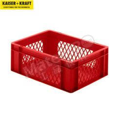 皇加力 欧式可堆叠周转箱 510864 内径尺寸:356×255×133mm 单箱承重:25kg  包