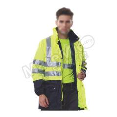 安大叔 高警示多功能防寒服 80503(B008) 颜色:荧光黄+深蓝色  件