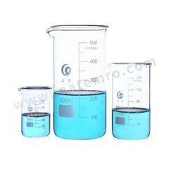 垒固 玻璃低型烧杯 B-000127-12  盒