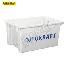 皇加力 可插可堆式周转箱 520935 颜色:天然 单箱承重:35kg 内径尺寸:450×330×295mm  包