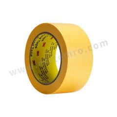 3M 和纸胶带 244 短期耐高温:100℃ 厚度:0.085mm 长度:50m 颜色:黄色  卷