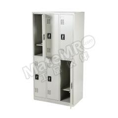 安稳盈 防静电六门更衣柜 CH-4-1.0E 颜色:防静电灰  个