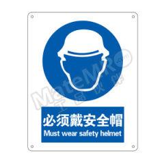 安赛瑞 GB安全标识(必须戴安全帽) 35175  张