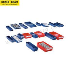 皇加力 聚丙烯材质货架储物盒 986980 最多可用横/纵分数隔片:4 颜色:蓝色  包