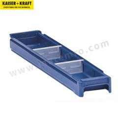 皇加力 聚丙烯材质货架储物盒 604210 最多可用横/纵分数隔片:5 颜色:蓝色  包