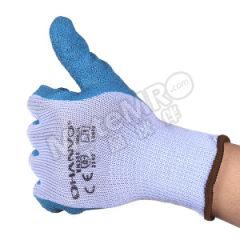 恒辉 10针涤棉纱乳胶皱纹涂掌手套 LB012  包