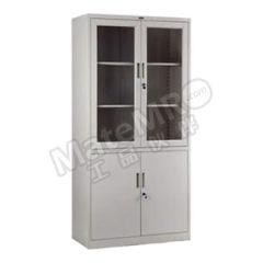 集大 玻璃双节开门柜 CA-BK10-K7 层板配置:上节门内两块层板,下节门内一块层板  个