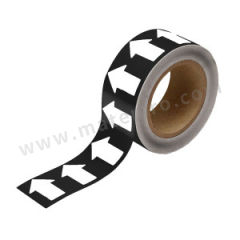 安赛瑞 管道流向箭头带(黑底白箭头) 33549  卷