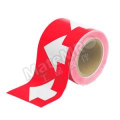 安赛瑞 反光管道流向箭头带(红底白箭头) 33511  卷