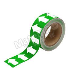 安赛瑞 反光管道流向箭头带(绿底白箭头) 33522  卷