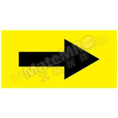 安赛瑞 管道流向箭头标识贴(黄底黑箭头) 15421  包