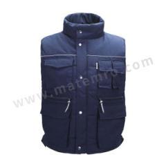 雷克兰 涤棉混纺防寒马甲 9065 颜色:蓝色  件