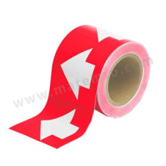 安赛瑞 管道流向箭头带(红底白箭头) 33508  卷