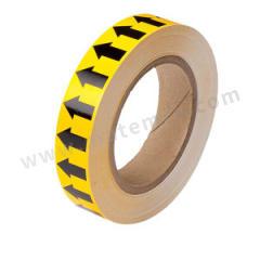 安赛瑞 反光管道流向箭头带(黄底黑箭头) 33503  卷