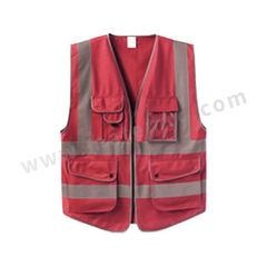 星华 高亮达标款多彩反光背心 120150 颜色:红色  件