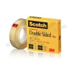 3M PVC双面胶带 665 长度:22.8m 短期耐高温:50℃ 宽度:12.7mm  卷