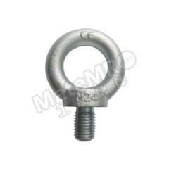 多来劲 镀锌吊环螺钉 0390 6124 45°额定载荷:1270kg 螺纹规格:M24 净重:0.87kg  个