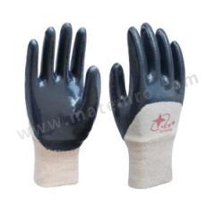 星宇 罗口针织绒布丁腈涂层手套 N608  双