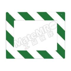 安赛瑞 悬挂式区域标识框(绿/白A4) 12142 材质:PVC  个