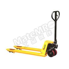 虎力 CT系列标准型手动液压搬运车 CT25S 脚轮材质:PU 车体颜色:黄色 货叉长度:1150mm  辆
