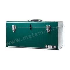 世达 手提工具箱 SATA-95103A 长度:508mm 宽度:218mm 高度:243mm 材质:钢板 颜色:绿色  只