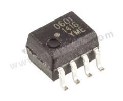 光耦合器 HCPL-0601-000E 安装类型:表面安装 输出设备:晶体管 最大正向电压:1.75V 通道数目:1 针数目:8 封装类型:SOIC 输入电流类型:直流 典型上升时间:0.024µs 最大输入电流:150 mA 隔离电压:3750 V 交流 逻辑输出:是 典型下降时间:0.01µs  管