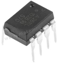 光耦合器 HCPL-2611-020E 安装类型:通孔安装 输出设备:晶体管 最大正向电压:1.75V 通道数目:1 针数目:8 封装类型:PDIP 输入电流类型:直流 典型上升时间:0.024µs 隔离电压:3.75 kVrms 逻辑输出:是 典型下降时间:0.01µs  管