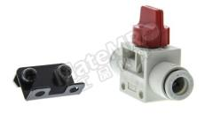 VHK 系列 红色 旋钮 PBT的 气动手动控制阀 VHK3-08F-08FRL 控制机制:旋钮 功能:3/2 制造商系列:VHK 控制按钮/开关颜色:红色 最大操作压力:1 MPa 主体材料:PBT的 最低工作温度:0°C 最高工作温度:+60°C 端口数目:3/2  个