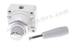 VH 系列 把手 压铸铝 气动手动控制阀 VH210-02 控制机制:把手 功能:4/3 连接口螺纹:Rc 1/4 螺纹尺寸:1/4in 螺纹标准:Rc 制造商系列:VH 最大操作压力:1 MPa 主体材料:压铸铝 最低工作温度:-5°C 最高工作温度:+60°C  个