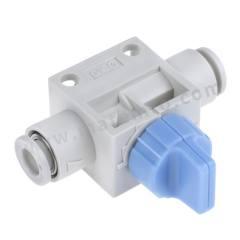 VHK 系列 蓝色 旋钮 PBT的 气动手动控制阀 VHK3-06F-06F 控制机制:旋钮 功能:3/2 连接口螺纹:推入式,6mm 制造商系列:VHK 控制按钮/开关颜色:蓝色 最大操作压力:1 MPa 主体材料:PBT的 最低工作温度:0°C 最高工作温度:+60°C 端口数目:3/2  个