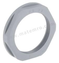 锁紧螺母 53019060 材料:玻璃纤维 PA 螺纹尺寸:PG29 颜色:灰色 IP防护等级:IP68 最低工作温度:-20°C 最高工作温度:+100°C  包