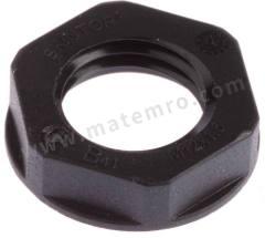 锁紧螺母 53119100 材料:玻璃纤维 PA 螺纹尺寸:M12 颜色:黑色 IP防护等级:IP68 最低工作温度:-20°C 最高工作温度:+100°C  包