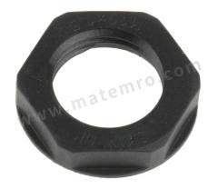 锁紧螺母 53119110 材料:玻璃纤维 PA 螺纹尺寸:M16 颜色:黑色 IP防护等级:IP68 最低工作温度:-20°C 最高工作温度:+100°C  包