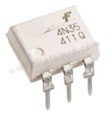光耦合器 4N35M 安装类型:通孔安装 输出设备:晶体管 最大正向电压:1.5V 通道数目:1 针数目:6 封装类型:PDIP 输入电流类型:直流 最大输入电流:60 mA 隔离电压:7.5 kVrms 最小电流传输率:100 %  管