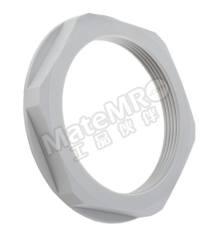 锁紧螺母 53119073 材料:聚酰胺 螺纹尺寸:M63 颜色:灰色 最低工作温度:-20°C 最高工作温度:+100°C  包