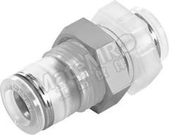 气动隔板管-管适配器 NPQP-H-Q10-E-FD 类型:直向 管连接 A:推入式 10 mm 管连接 B:推入式 10 mm 主体材料:聚丙烯 最大操作压力:10 bar 食品级:是 耐化学腐蚀:是 管连接 B - 管尺寸:10mm 最高工作温度:+60°C 最低工作温度:-20°C 管连接 A- 类型:推入式 管连接 - 管尺寸:10mm 管连接 B - 类型:推入式 形状类型:直向 符合标准:ANSI/NSF 51, FDA 21 CFR 177.1520, FDA 21 CFR 177.2600, NSF H1 Reg. No. 123950  个