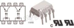 光耦合器 MCT62H 安装类型:通孔安装 输出设备:光电晶体管 最大正向电压:1.6V 通道数目:2 针数目:8 封装类型:DIP 典型上升时间:3µs 最大输入电流:60 mA 隔离电压:5.3 kVrms 最大电流传输比:200% 最小电流传输率:100% 典型下降时间:4.7µs  包